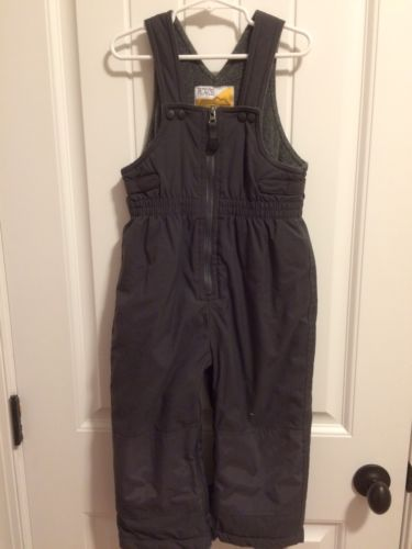 Children's Place Snowsuit 3T 3 Toddler Boy Girl Gray Snow Pants Bib Ski Overalls