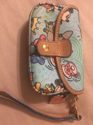dooney and bourke disney wristlet wallet blue
