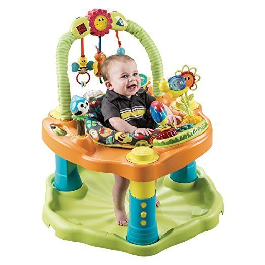 Baby Exersaucer Fun Activity Center Height Adjustment Playmat Table 3 Stages New