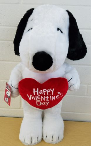 PEANUTS SNOOPY Happy Valentines Day plush Animal Plays Linus & Lucy 24