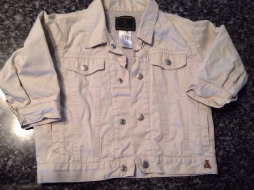 Baby GAP Khaki Coat 18 to 24 Months Jean Jacket With Lining