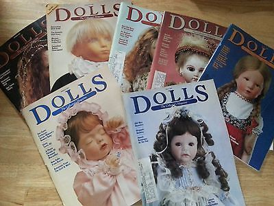 DOLLS The Collector's Magazine - Lot of  7 -  1991