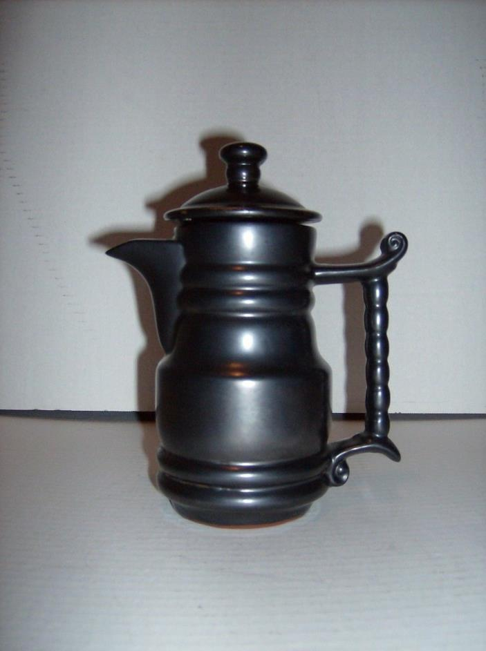 Vintage Black Pottery Teapot Made in Japan