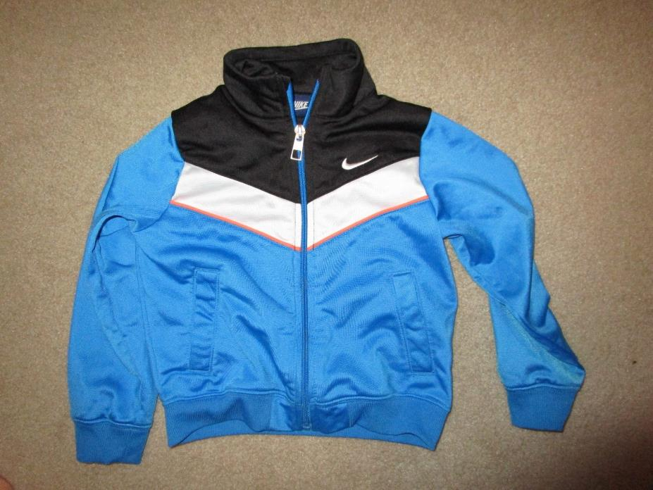 NIKE TODDLER BOYS JACKET BLUE WHITE SIZE 3T USED POLYESTER