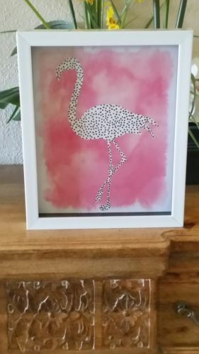 Flamingo Shadowbox Picture