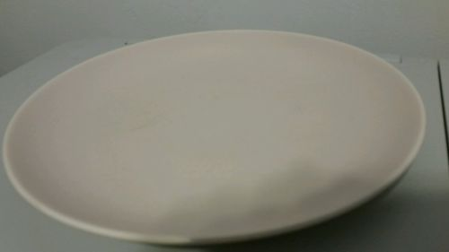 Vintage POOLE SET OF 4 DINNER PLATES Made in England Two Tone  BEIGE