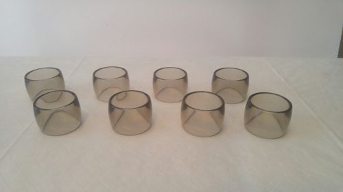 Set of 8 vintage acrylic napkin rings