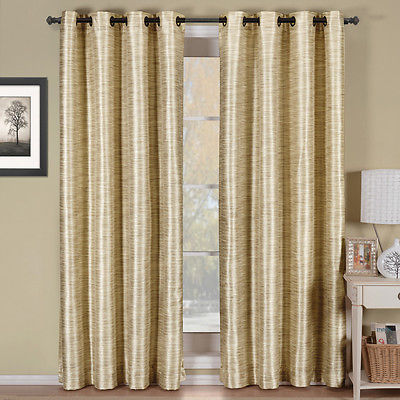 Ivory Geneva Multi-layer Grommet Blackout Window Curtain Panel