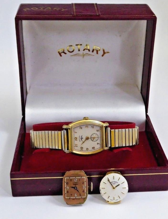 Rotary Watch Box, Quartz Watch And Two Parts Movements