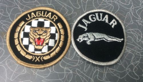 Set of Two Vintage Jaguar Dealer Auto Car Embroidered Patches Emblems 3