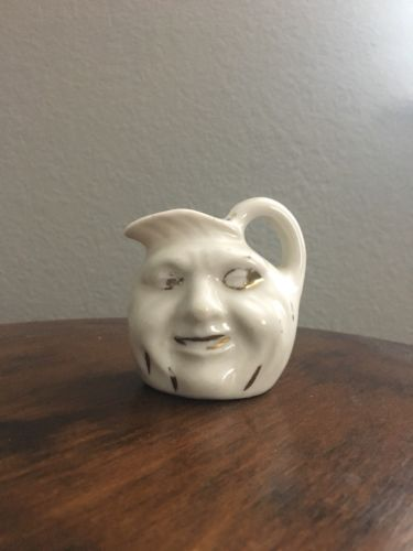 Man In The Moon Antique Creamer Pitcher