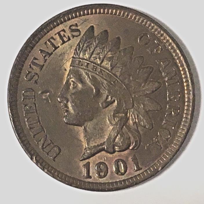 1901 indian head cent AU/BU/MS?