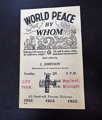 World Peace Paper (1940's)