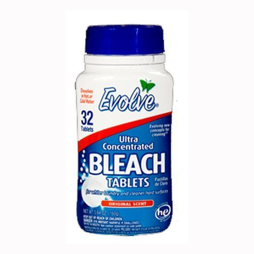 Evolve Original Scent Ultra Concentrated Bleach Tablets, 32 count 5.64 oz