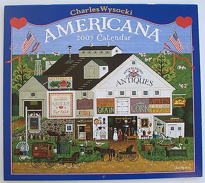 2003 Americana Charles Wysocki Calendar Art Prints