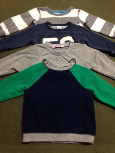 Lot 4 Infant Baby Boy Long Sleeve Sweat Shirts Tops 18mo Circ0 Carter's Vogue