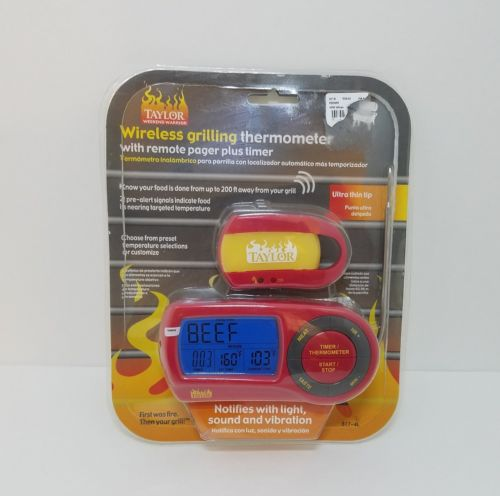 Taylor Wireless Probe Grilling Thermometer With Remote Pager