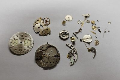 Vintage chronograph watch movement Valjoux 7730 for parts