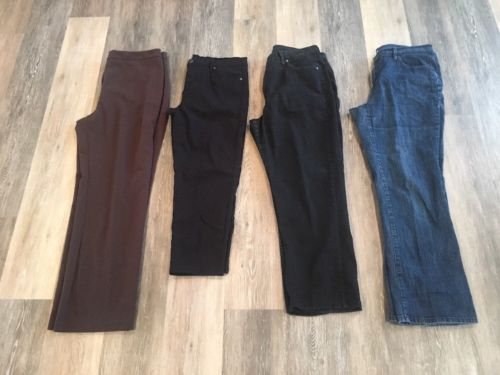 Lot Of 4 Pair Pants, Size 16, Womens