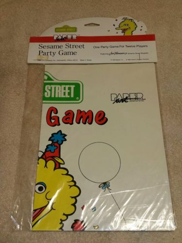 Vtg Muppets Sesame Street Party Game Big Bird Birthday CTW Paper Art Co