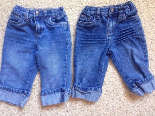 Baby Boy Girls 12 month lot of 2 Pair Of Arizona Blue Jeans Infant