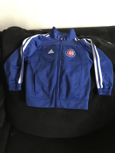 Adidas Toddler Boys Chicago UBS  Full Zip Sports Jacket Royal Blue Size 3T
