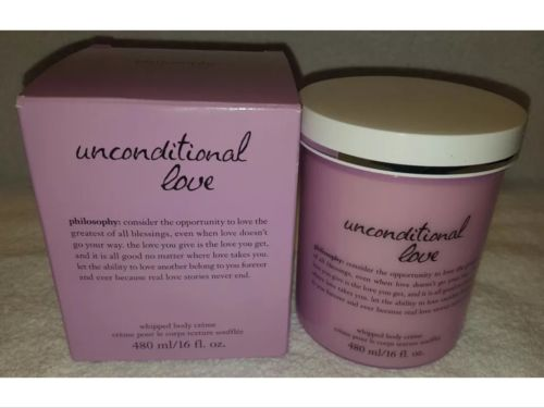 Philosophy UNCONDITIONAL LOVE Whipped Body Creme 16 oz/480mL Jar New Box Huge