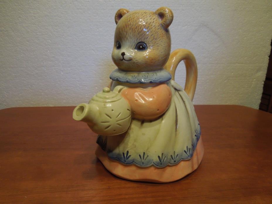 Takahashi Bear hand painted Teapot