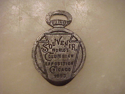 Keystone Watch Case Co Fob Coulmbian Exposition Chicago Pocket Watch Case Opener