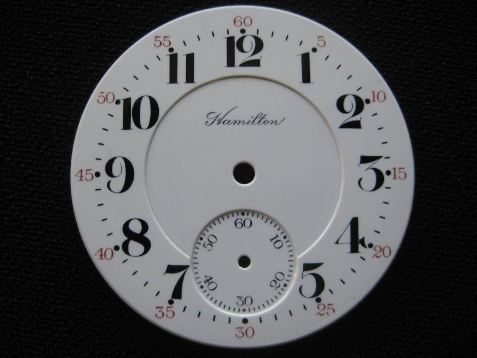 16S Hamilton Pocket Watch Double Sunk Dial