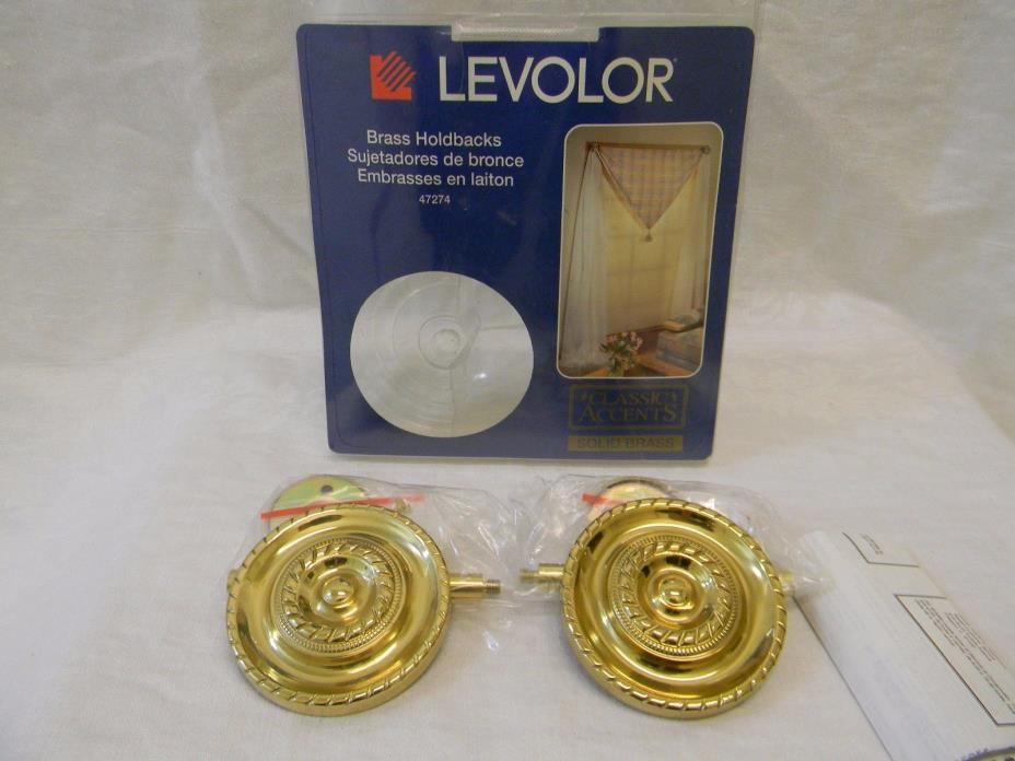 Levolor 54566906 Medallion Drapery Holdbacks, Antique Brass, 2-pack
