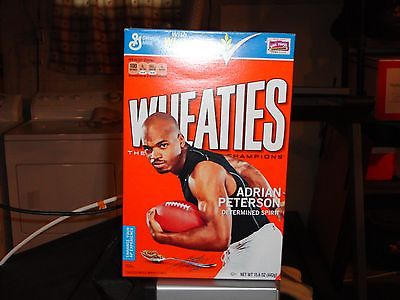 ADRIAN PETERSON EMPTY WHEATIES BOX