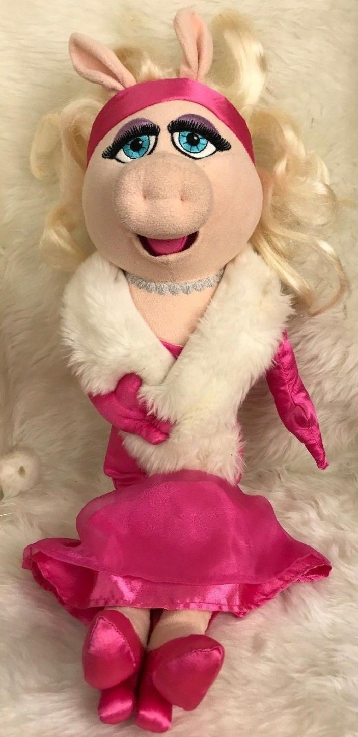 Disney Store Miss Piggy Pink Dress Muppets 19'' Authentic Original Plush 2011