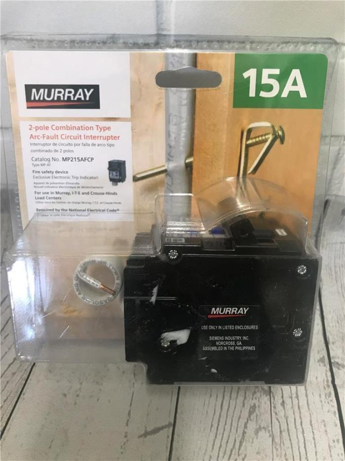MURRAY MP215AFCP 15 amp 2-Pole Combination Type Arc-Fault Circuit Interrupter