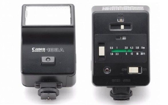 Canon Flash Speedlite 188A, or 177A for AE-1 A1 T50 T70 Pentax K1000 Tested