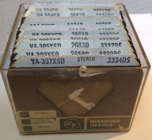12 Electro Voice Diamond Needles In Original Case 3331DS 3009D 3332DS 3330DS +