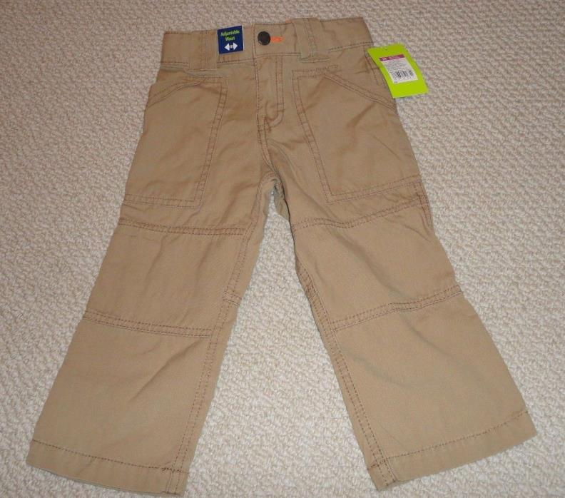 NWT! Todler Boys Khaki Pants-Sz 2T-Genuine Kids Osh Kosh-Adjustable Waist