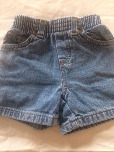 Toddler Boys 2T SONOMA Carpenter DENIM SHORTS Blue Jeans elastic waist Pockets