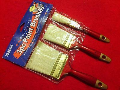 "3 Paint Brushes 1""+2""+3'' All Purpose FAMILYMAID New"
