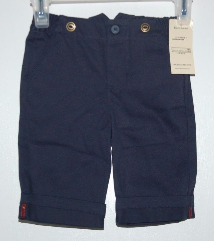 NWT! Boys 6 Months Ralph Lauren Navy Blue Dress Pants NEW!