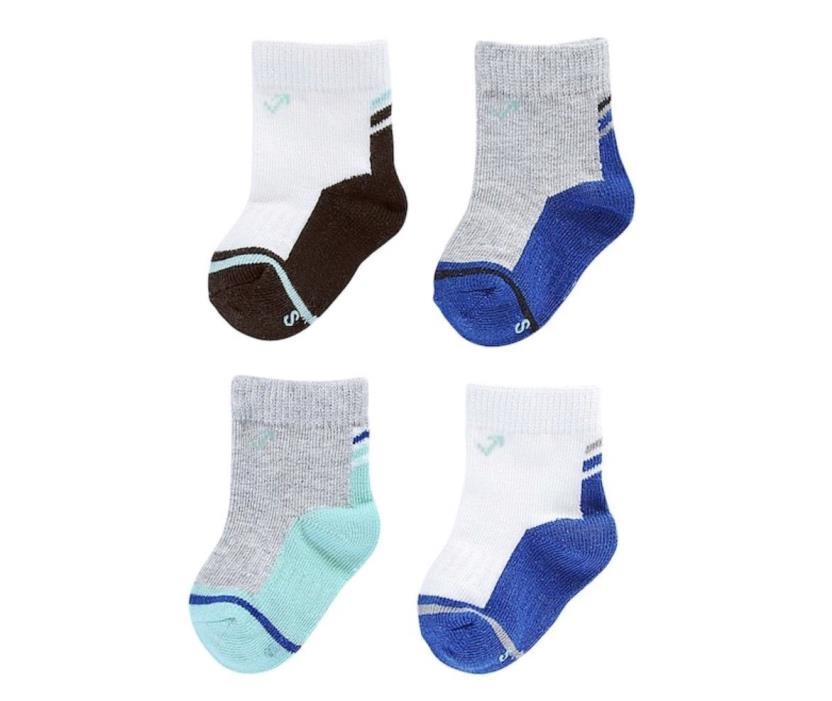 NWT Baby Boy everUP 4-pk. Colorblock Crew Socks Size 12-24 Months