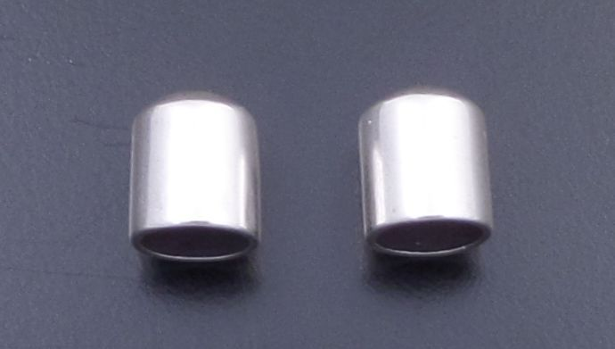Sterling Silver End Caps 10 x 12mm 1 Pair