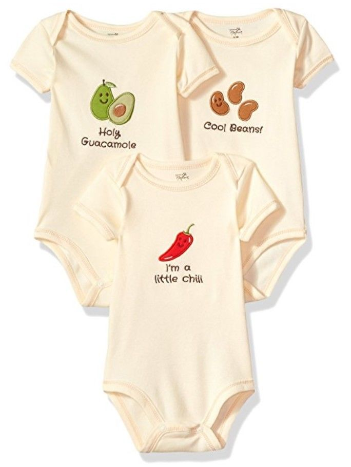 Touched by Nature Organic Veggie Bodysuit 3 Pack 6-9 months