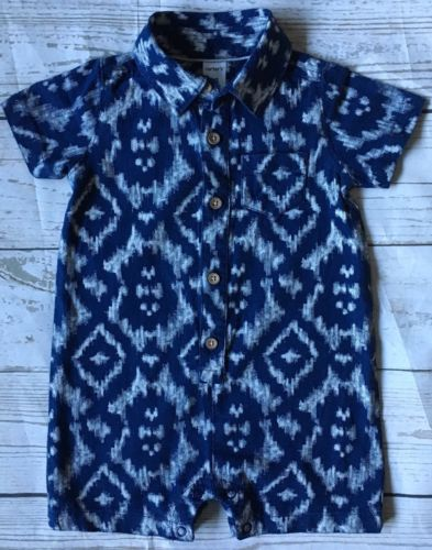 Boys One Piece Size 12 Months Boys Outfit Blue Button Down Carter's Carters