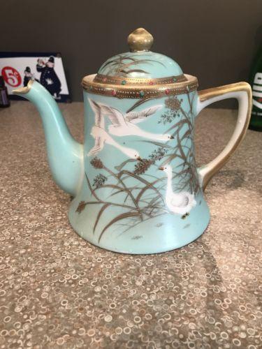Oriental Design SNB Vintage Antique Teapot