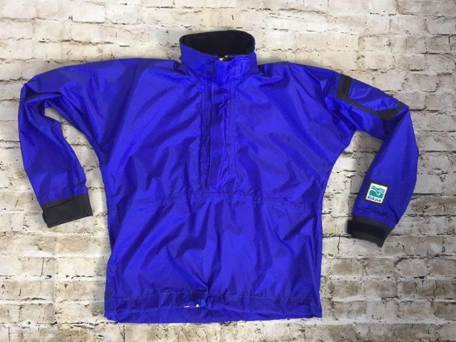 Kokotat Gore-Tex Paddle Kayak Jacket Blue Small Pullover