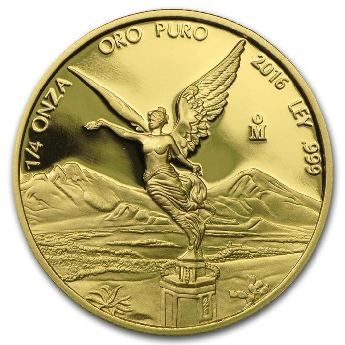 2016 1/4 oz .999 fine gold Libertad Proof Mexico