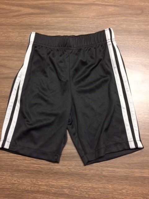 Wonderkids Toddler Boys Black/Gray Active Shorts NWOT 5T