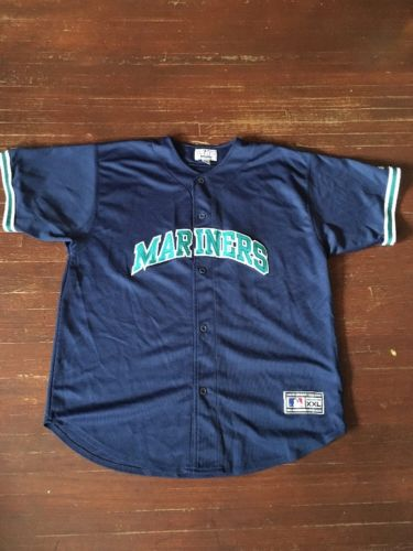 Vintage Starter Seattle Mariners Baseball Jersey XXL Can Fit XL Check Measurmnts