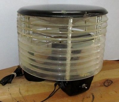 Vintage AIR FLIGHT CIRCULATORS 1 Speed Floor/Table/Hassock Fan MCM/Atomic J044
